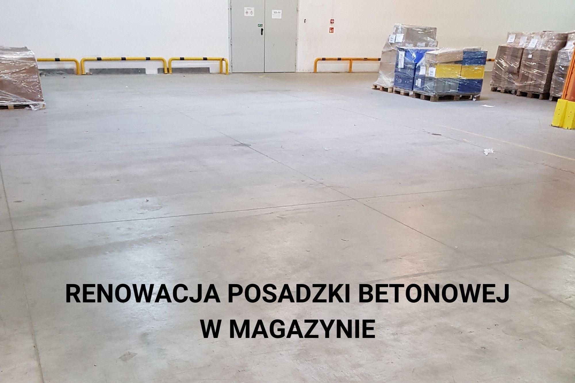 renowacja posadzki betonowej w hali magazynowej